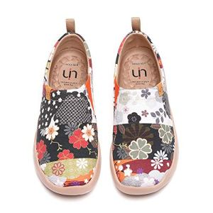UIN Women's Casual Loafers Travel Painted Walking Slip On