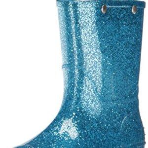 Western Chief Girls Glitter Rain Boot, Turquoise