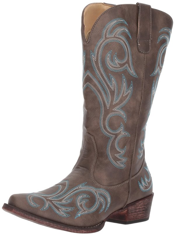 Roper womens Riley Western Boot, Brown