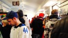 A large crowd inside the CloutsnChara store for the Steve Dangle book signing event in April 2019.