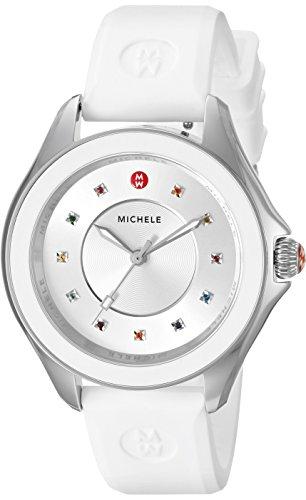 MICHELE Women's CAPE Analog Display Swiss Quartz White Watch