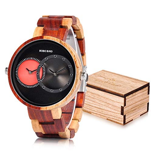 BOBO BIRD R10 Men's 2 Time Zone Wooden Watches
