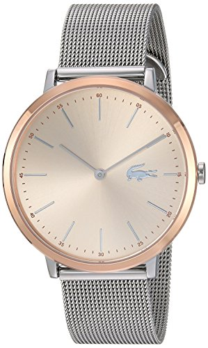 Lacoste Women's Moon Ultra Slim Silver and Gold Quartz Watch