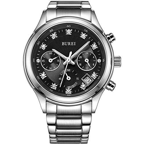 BUREI Women Chronograph Watches Analog Quartz Watch