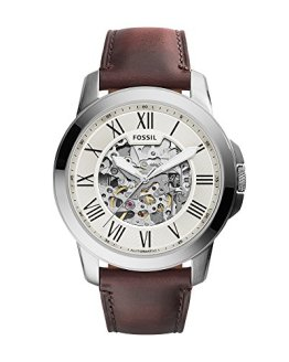 Fossil Men's Self-Wind Stainless Steel Watch with Brown Band