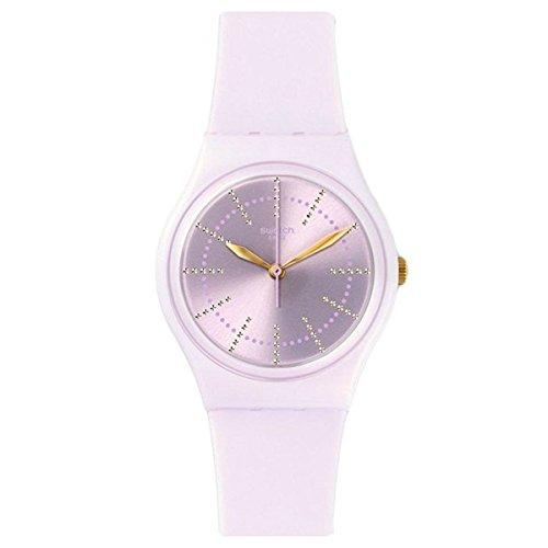 Swatch Originals Guimauve Pink Dial Silicone Strap Ladies Watch