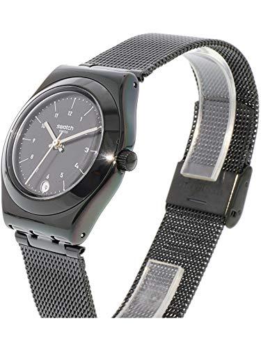 Swatch Neronero Black Metal Swiss Quartz Fashion Watch