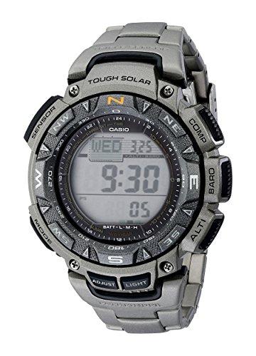 Casio Men's Pathfinder Triple-Sensor Stainless Steel Watch