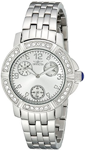 Invicta Women's Angel Analog Display Japanese Quartz Silver Watch