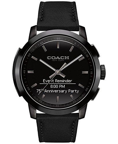 Coach Men's Bleecker Smart Black Leather Strap Smart Watch