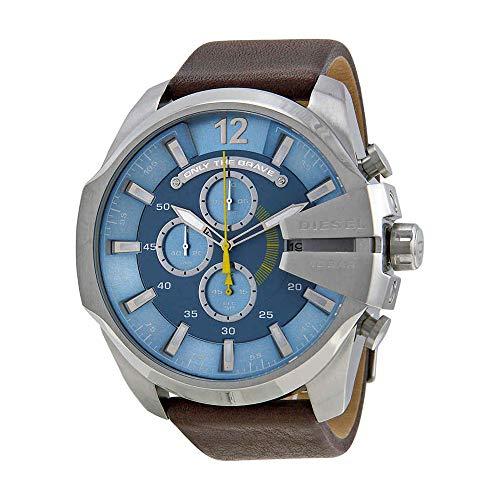 Diesel Men's Mega Chief Stainless Steel Brown Leather Watch