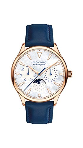 Movado Women's Heritage Rose Gold Watch with a Printed Index Dial