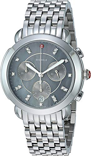 Michele Women's Sidney - Stainless/Grey Mother-of-Pearl Dial One Size