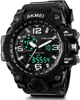 Men's Analog Sports Watch, Aposon Military Wrist Watch Large Dual Dial Digital