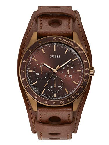 GUESS Factory Men's Brown Multifunction Cuff Watch
