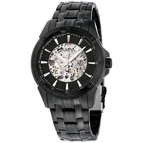 Bulova Men's Automatic Stainless Steel Casual Watch, Color:Black