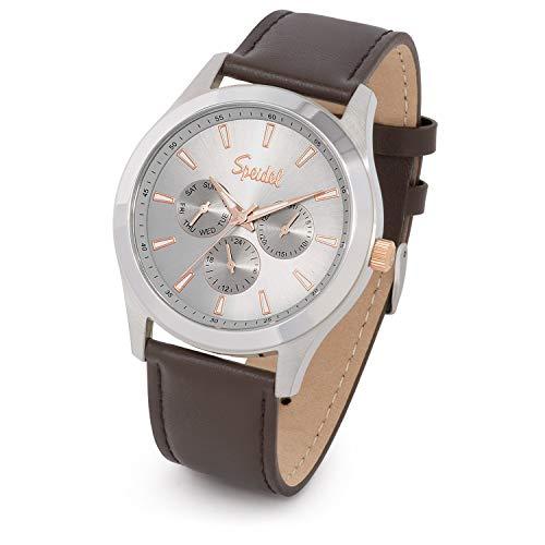 Speidel Men's Chrono Stainless Steel Gray Sunray Dial Watch