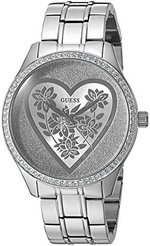 GUESS Women's U0910L1 Trendy Silver-Tone Watch