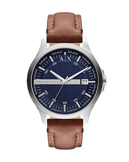 Armani Exchange Men's Brown Leather Watch