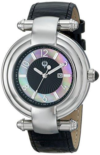 Brillier Women's Klassique Analog Display Quartz Black Watch