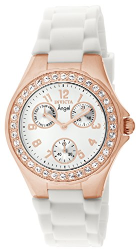 Invicta Women's Angel Jelly Fish Crystal-Accented 18k Rose Gold Watch
