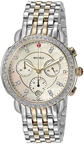 Michele Sidney One Hundred Seventeen Diamonds Two Tone Women's Watch