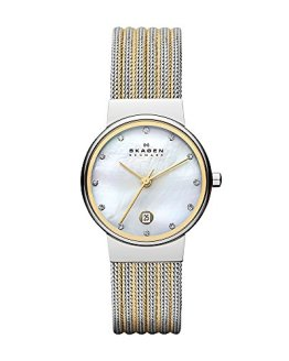 Skagen Women's 'White Label' Quartz Stainless Steel Dress Watch