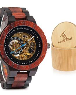 BOBO BIRD Mens Wooden Watches Luxury Mechanical Watch