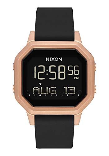 Nixon Siren SS Black/Rose Gold Women's Water-Resistant Digital Watch