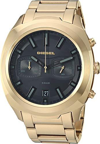 Diesel Men's 'Tumbler' Quartz Stainless-Steel-Plated Watch