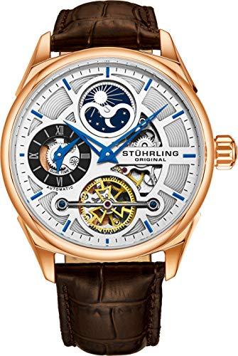 Stuhrling Original Men's Luxury Skeleton Dress Watch, Automatic Wristwatch