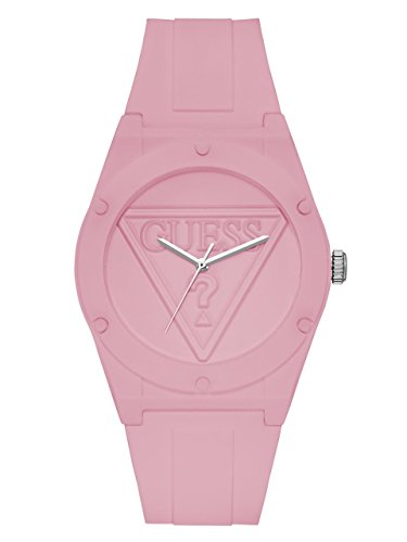 GUESS Quartz Rubber and Silicone Casual Watch Color Light Pink