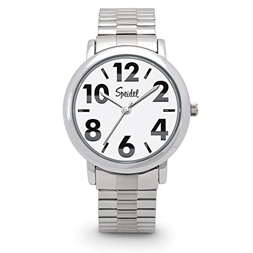 Speidel Men's Bold Face Watch Featuring Easy to Read Large Numerals
