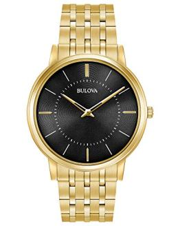 Bulova Men's Quartz Stainless Steel Casual Watch, Color:Gold-Toned