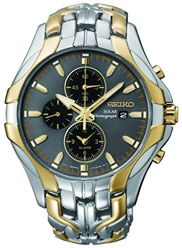 """Seiko Men's SSC138 """"Excelsior"""" Two-Tone Stainless Steel Solar Watch"""