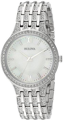 Bulova Women's Swarovski Crystal Stainless Steel Watch
