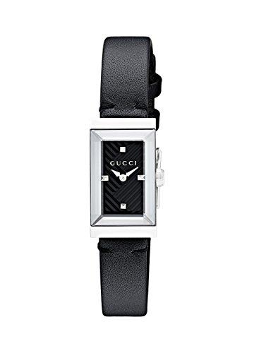 Gucci G-Frame Black Dial Ladies Leather Watch YA147504