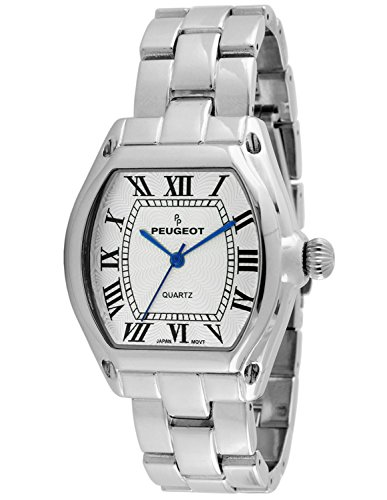 Peugeot Women's Silver Tank Roman Numeral Bracelet Dress Watch