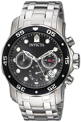 Invicta Men's 'Pro Diver' Quartz Stainless Steel Watch