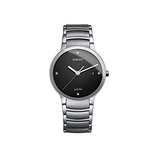 Rado Men's R30927713 Centrix Jubile Black Dial Watch