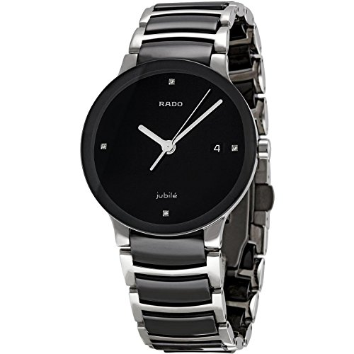 Rado Women's Centrix Black Ceramic Bracelet Watch