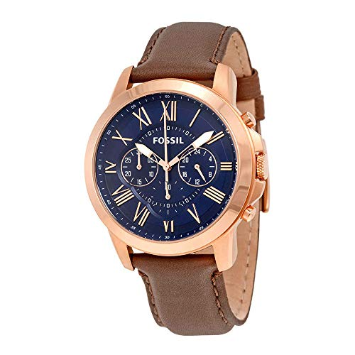 Fossil Men's Grant Chronograph, Rose Gold-Tone Stainless Watch