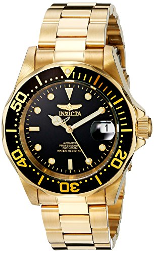 Invicta Men's Pro Diver Collection Automatic Gold-Tone Watch