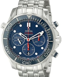Omega Men's Diver 300 M Co-Axial Chronograph Sliver Watch