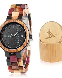 BOBO BIRD Women Wood Watches Colorful Wood WristWatches Week