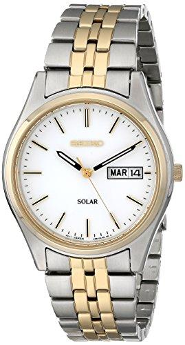 Seiko Men's SNE032 Two-Tone Stainless Steel Solar Watch