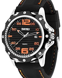 Mens Quartz Watch, Analog Watches Fashion Sports Dress Waterproof