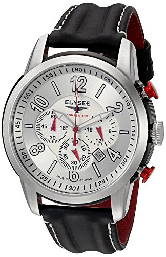 Elysee Men's Competition Analog Display Quartz Black Watch