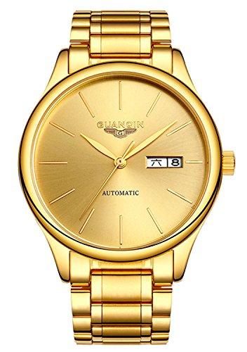 Luxury Fashion Week Calendar Sport Mechanical Watch (Gold)