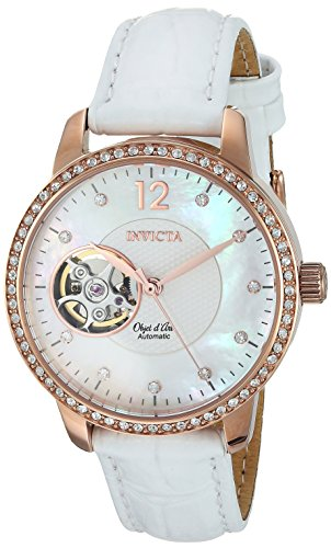 Invicta Women's Objet D Art Gold Automatic-self-Wind Watch